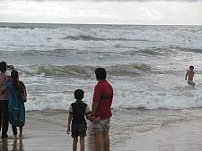 Father Child at Calangute Beach