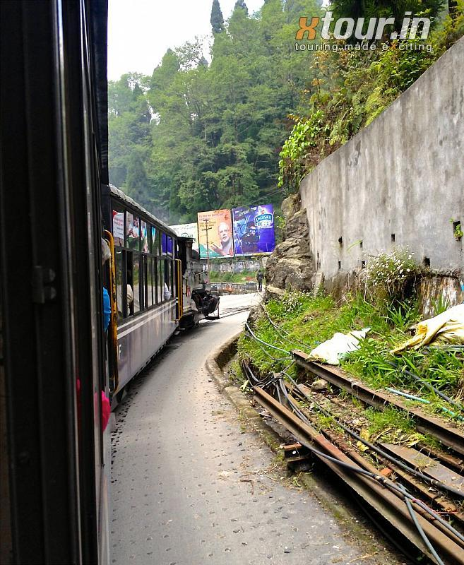 Darjeeling Toy Train on Road