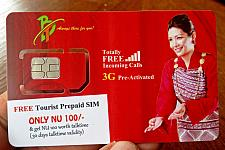 Bhutan Mobile Tourist SIM Card