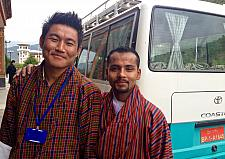 Mr. Kinley Wangchukk the Tour Guide & Mr. Yam the Driver